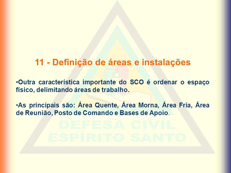 11 - Definição de áreas e instalações
