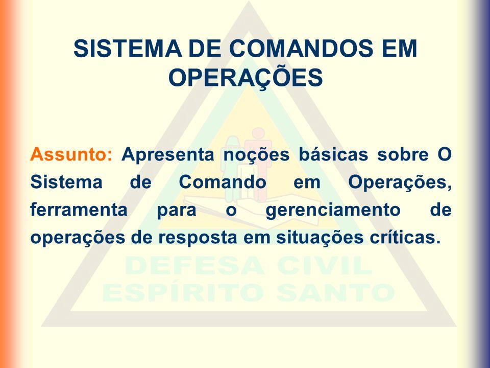 SISTEMA DE COMANDOS EM OPERAÇÕES