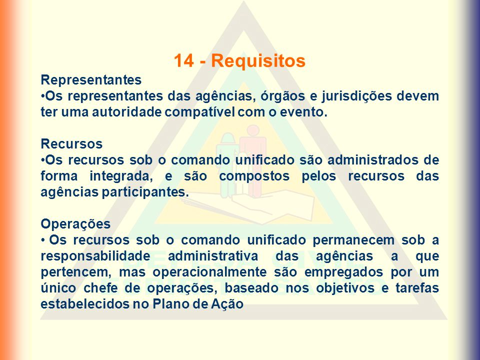 14 - Requisitos Representantes