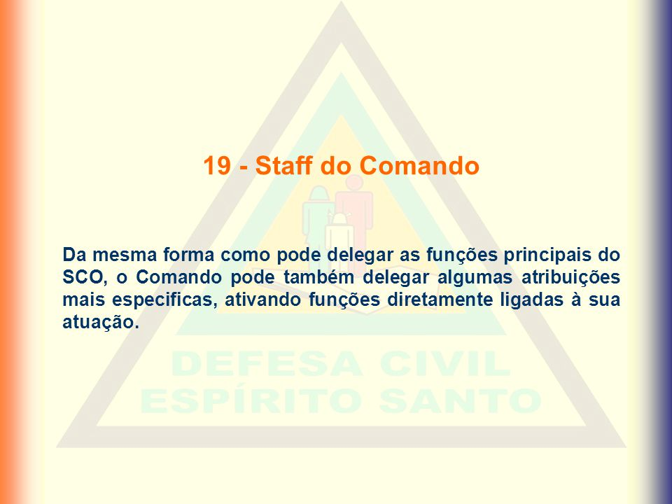 19 - Staff do Comando