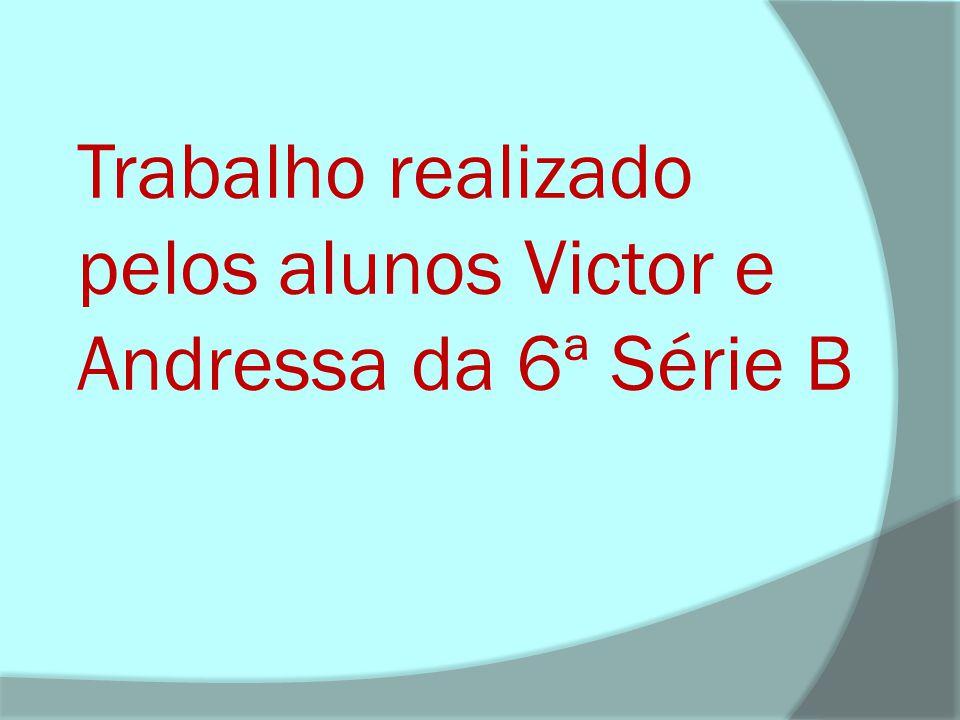 Trabalho realizado pelos alunos Victor e Andressa da 6ª Série B