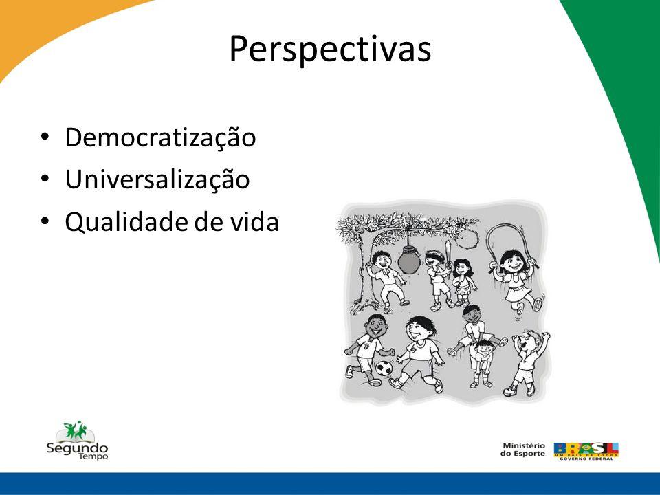 Perspectivas Democratização Universalização Qualidade de vida