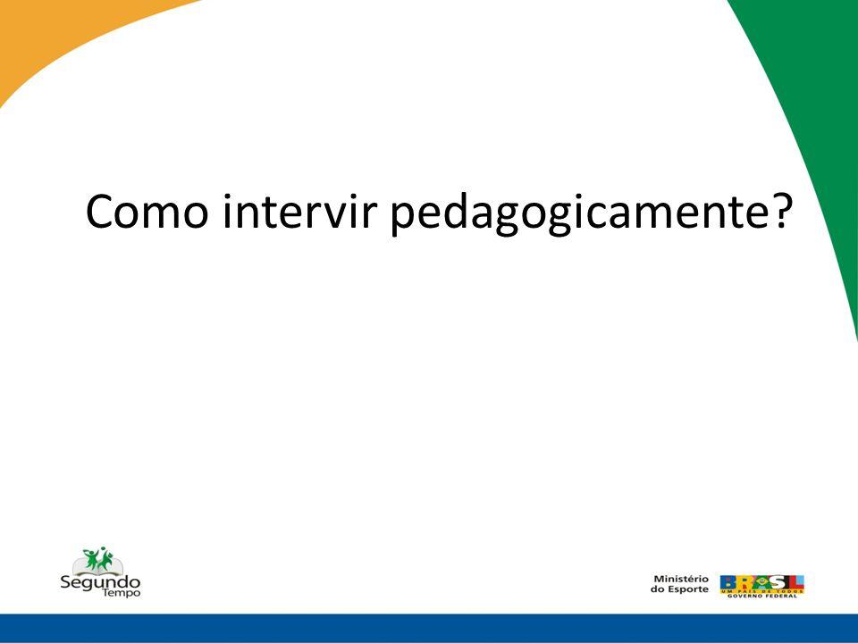 Como intervir pedagogicamente
