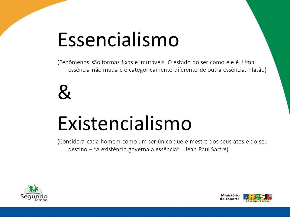 Essencialismo & Existencialismo
