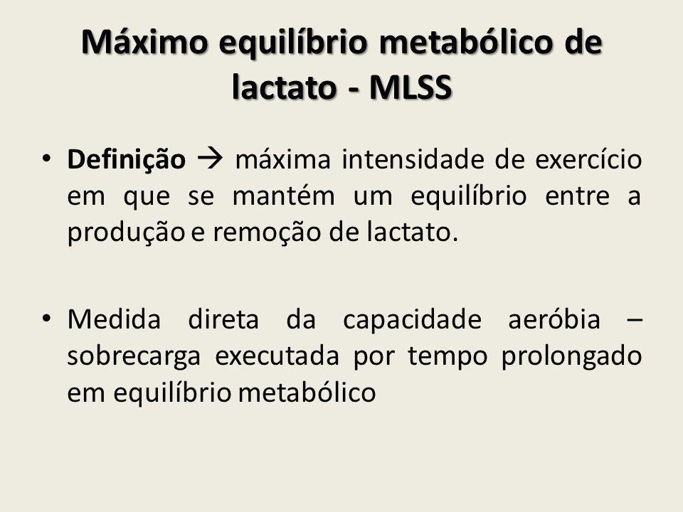Máximo equilíbrio metabólico de lactato - MLSS
