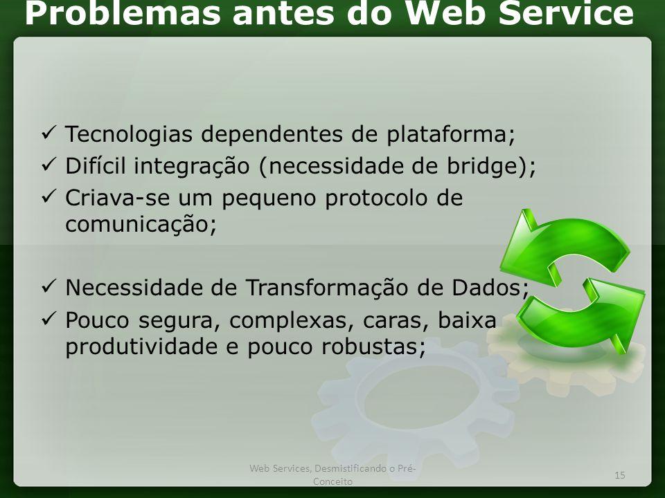 Problemas antes do Web Service