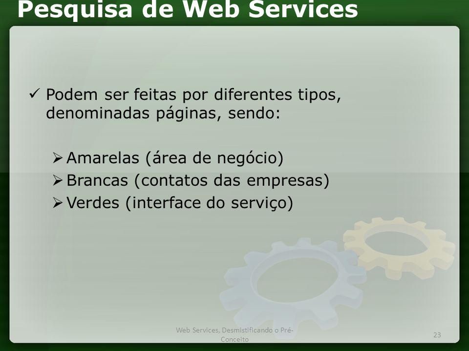 Pesquisa de Web Services