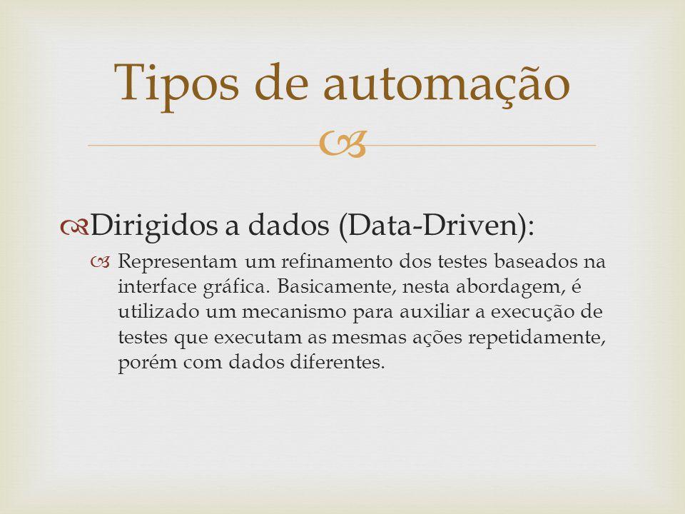 Tipos de automação Dirigidos a dados (Data-Driven):