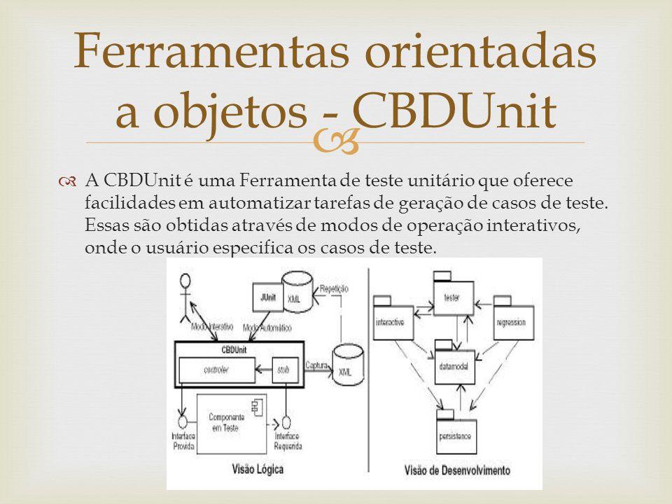 Ferramentas orientadas a objetos - CBDUnit