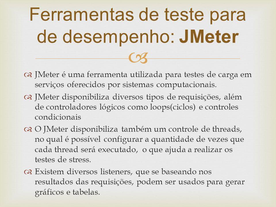 Ferramentas de teste para de desempenho: JMeter