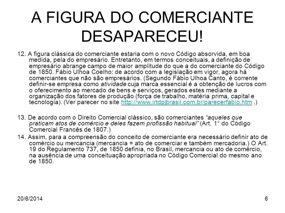 A FIGURA DO COMERCIANTE DESAPARECEU!