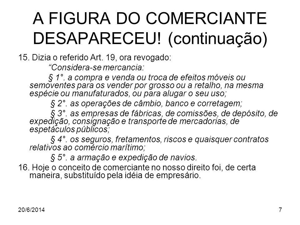 A FIGURA DO COMERCIANTE DESAPARECEU! (continuação)