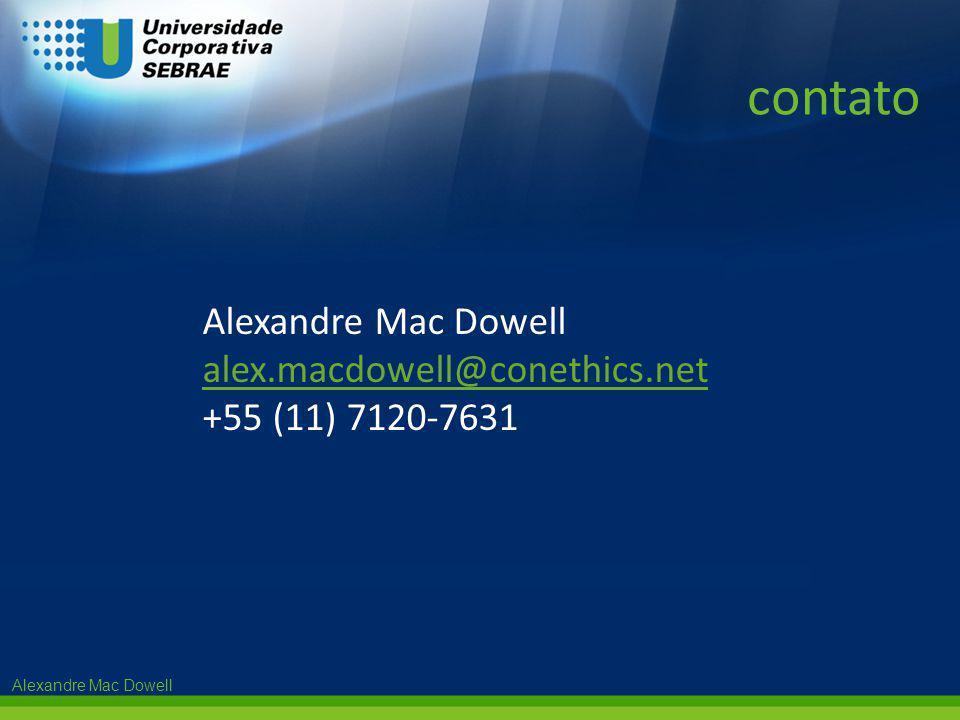 contato Alexandre Mac Dowell alex.macdowell@conethics.net