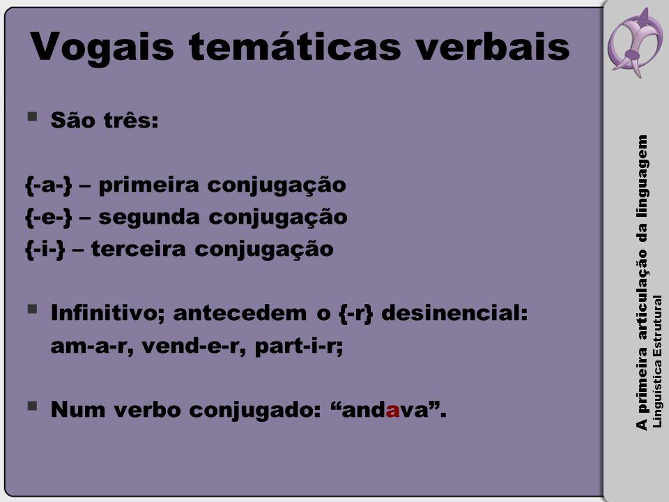 Vogais temáticas verbais