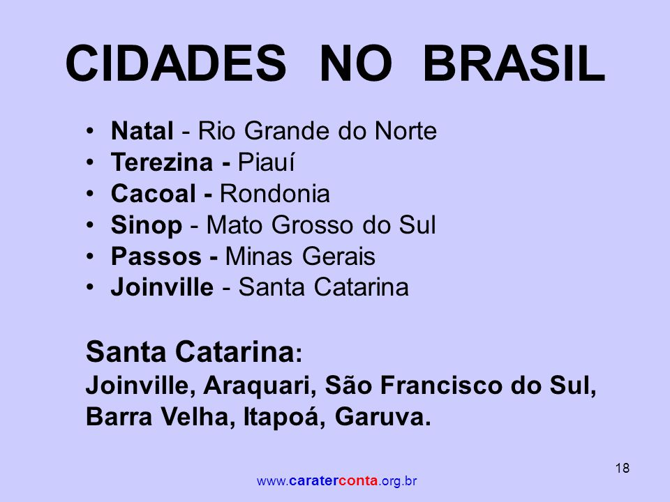 CIDADES NO BRASIL Santa Catarina: Natal - Rio Grande do Norte