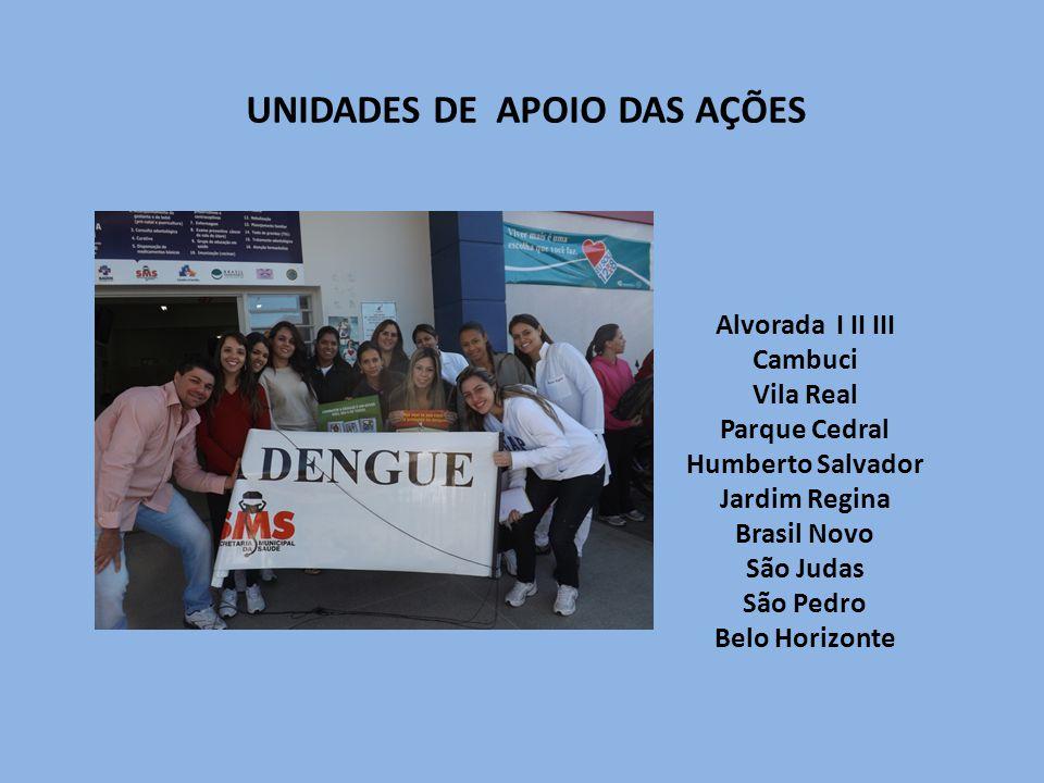 UNIDADES DE APOIO DAS AÇÕES
