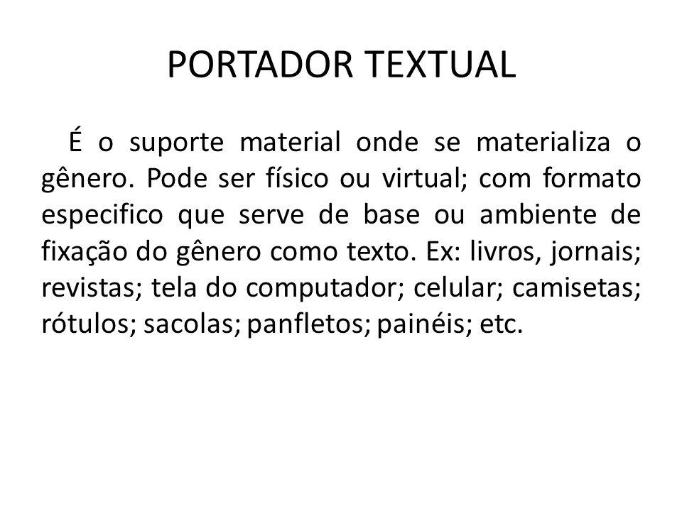 PORTADOR TEXTUAL