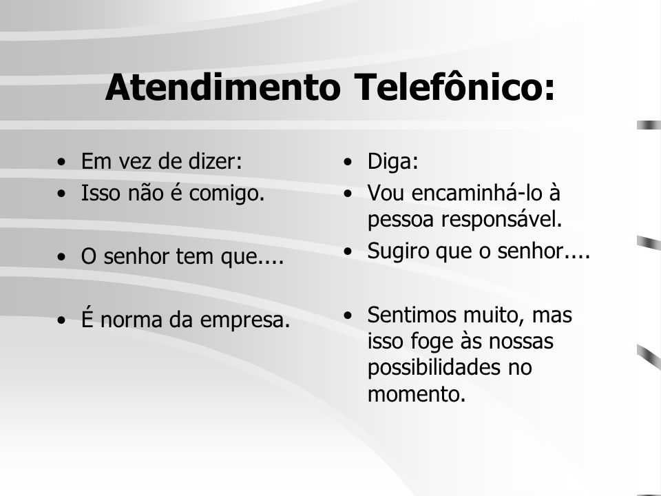 Atendimento Telefônico: