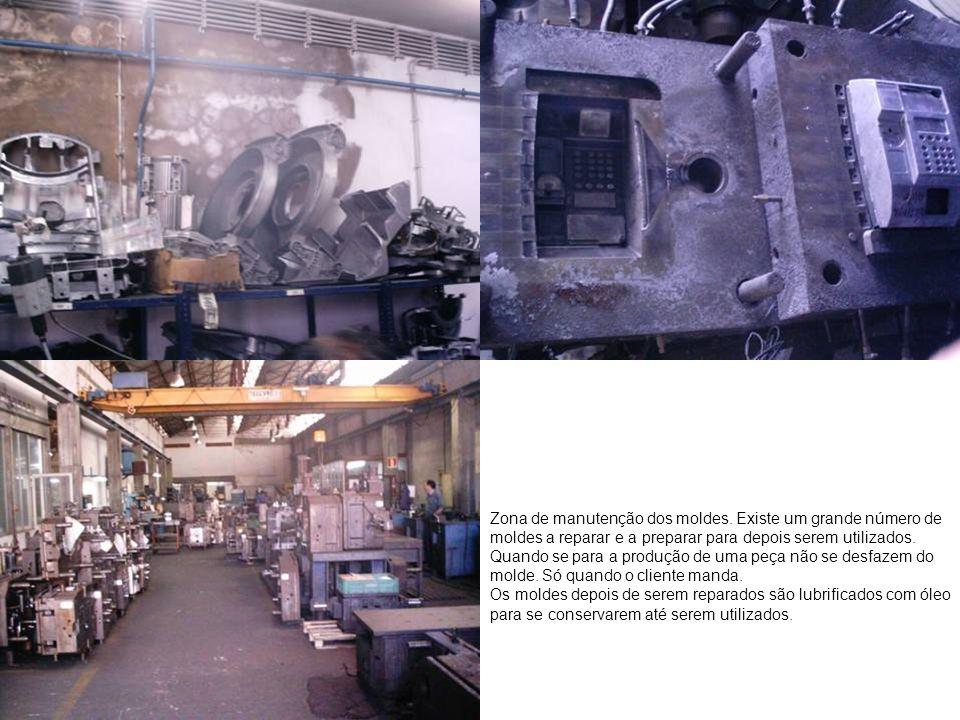 Zona de manutenção dos moldes