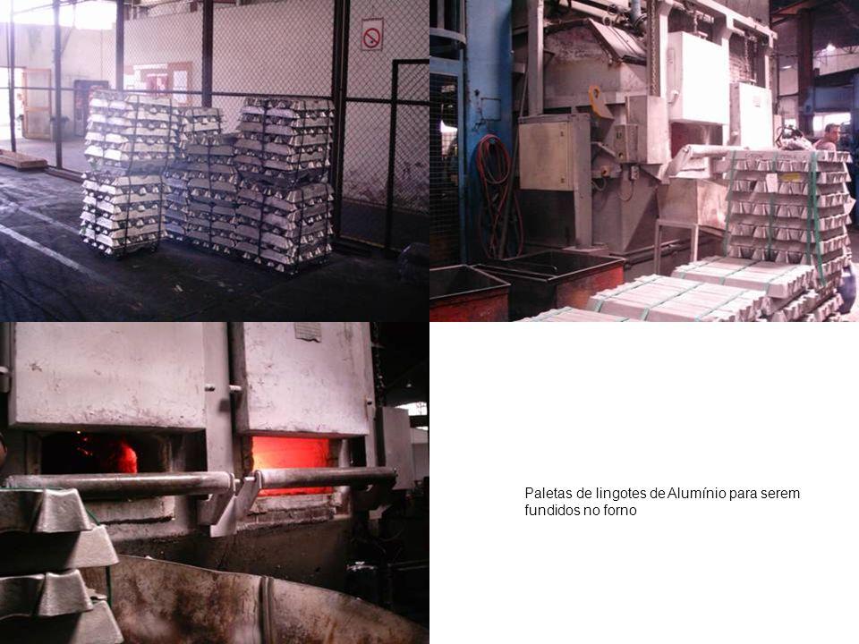 Paletas de lingotes de Alumínio para serem fundidos no forno
