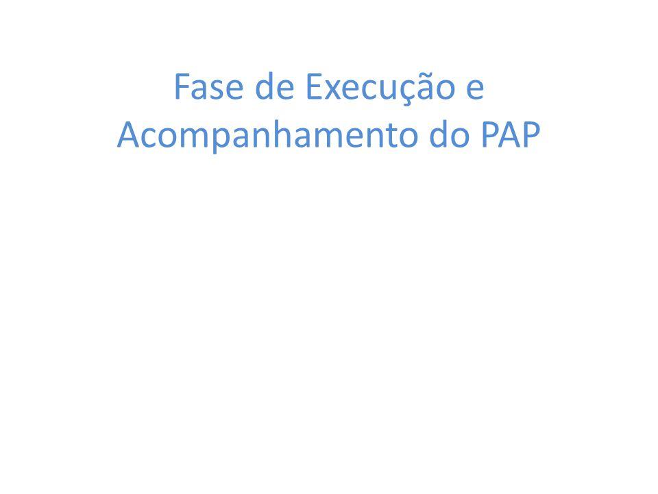 Fase de Execução e Acompanhamento do PAP