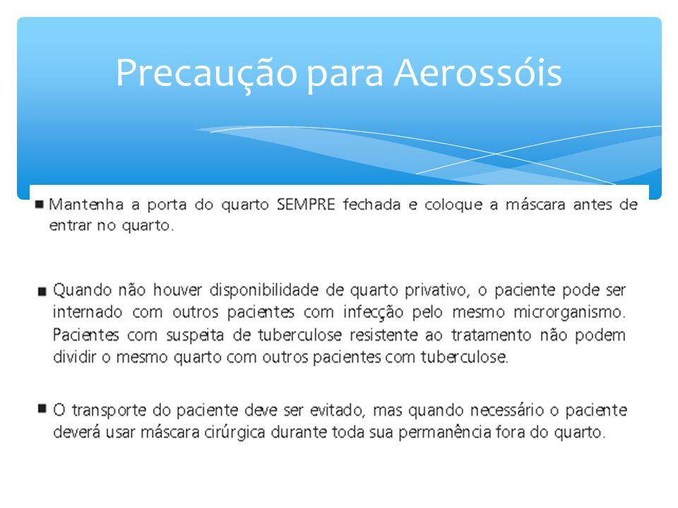 Precaução para Aerossóis