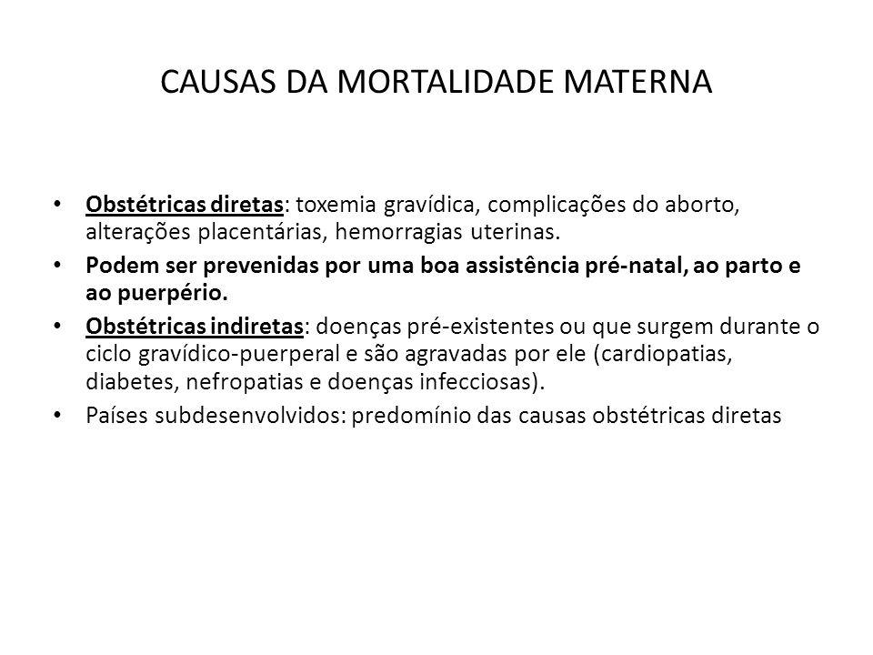 CAUSAS DA MORTALIDADE MATERNA