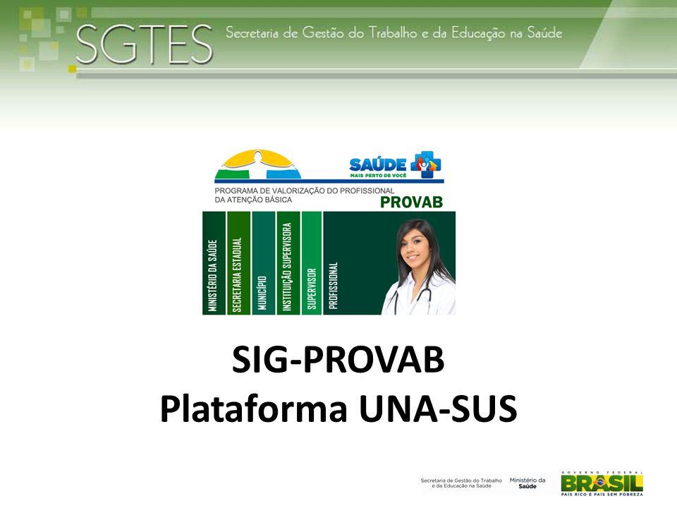 SIG-PROVAB Plataforma UNA-SUS