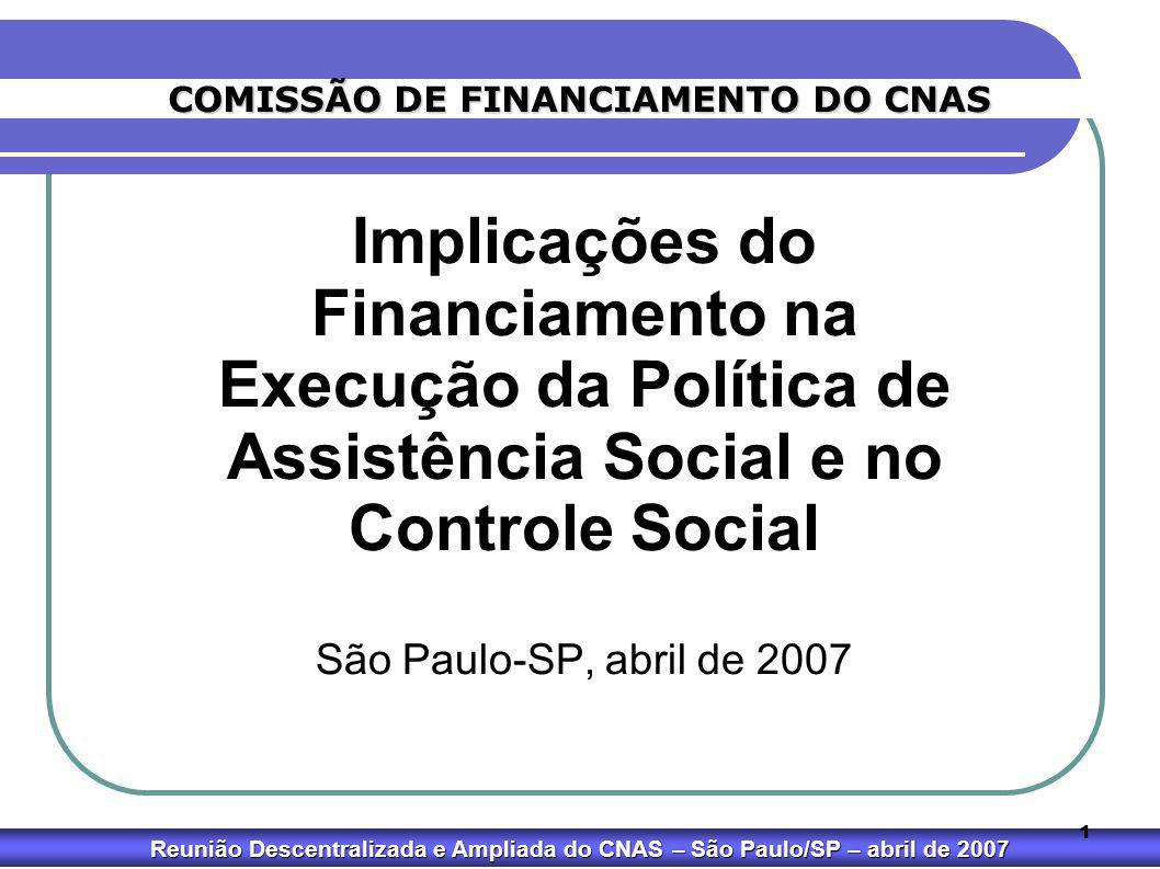 COMISSÃO DE FINANCIAMENTO DO CNAS