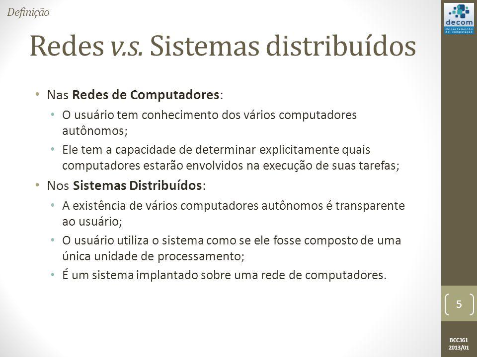 Redes v.s. Sistemas distribuídos