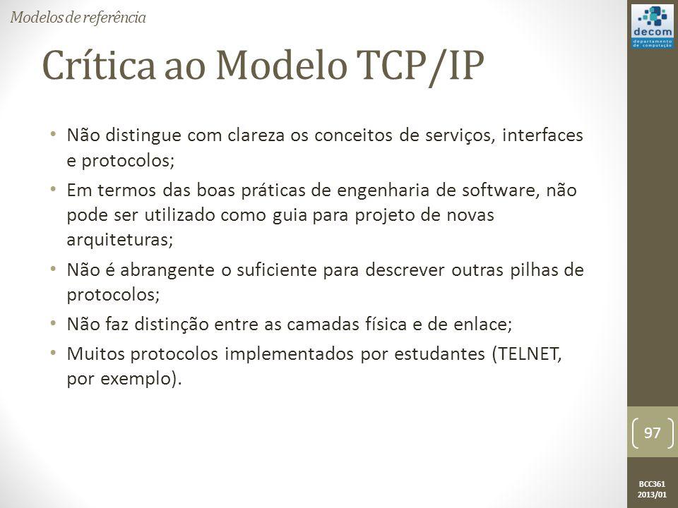 Crítica ao Modelo TCP/IP
