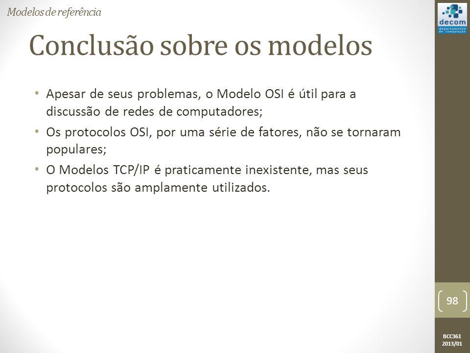 Conclusão sobre os modelos
