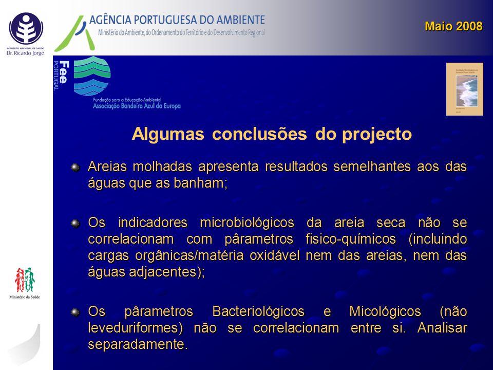 Algumas conclusões do projecto
