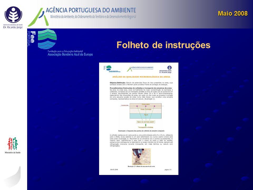Maio 2008 Folheto de instruções