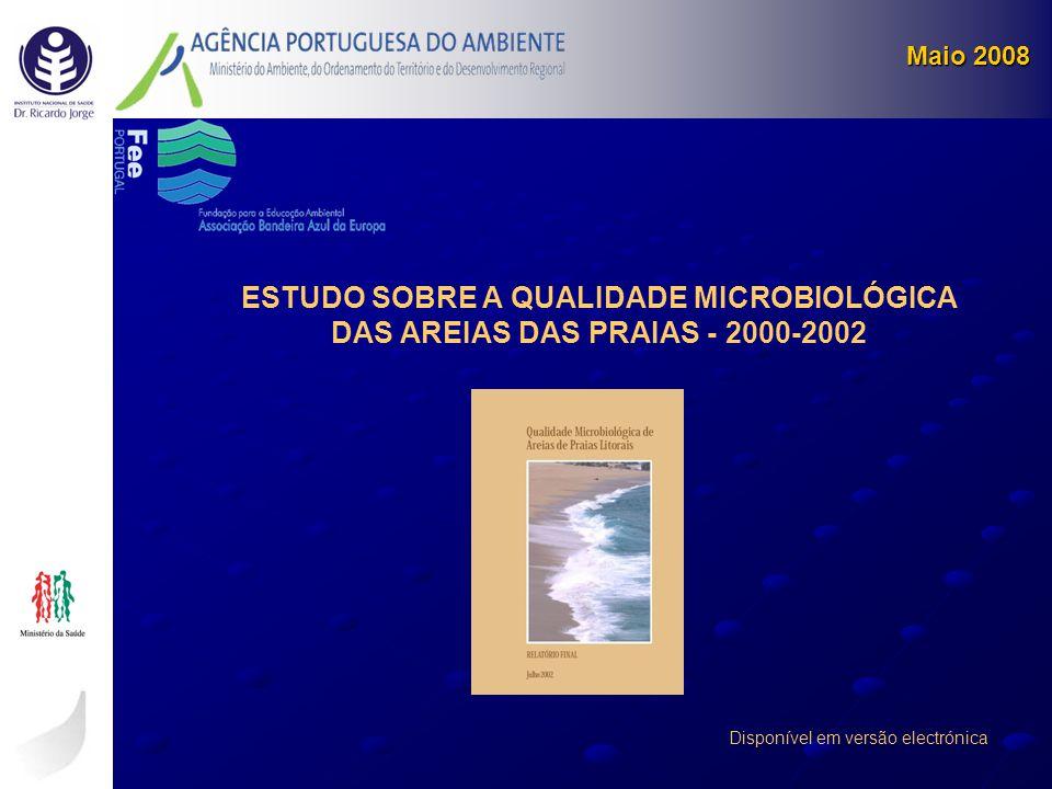 Maio 2008 ESTUDO SOBRE A QUALIDADE MICROBIOLÓGICA DAS AREIAS DAS PRAIAS - 2000-2002.