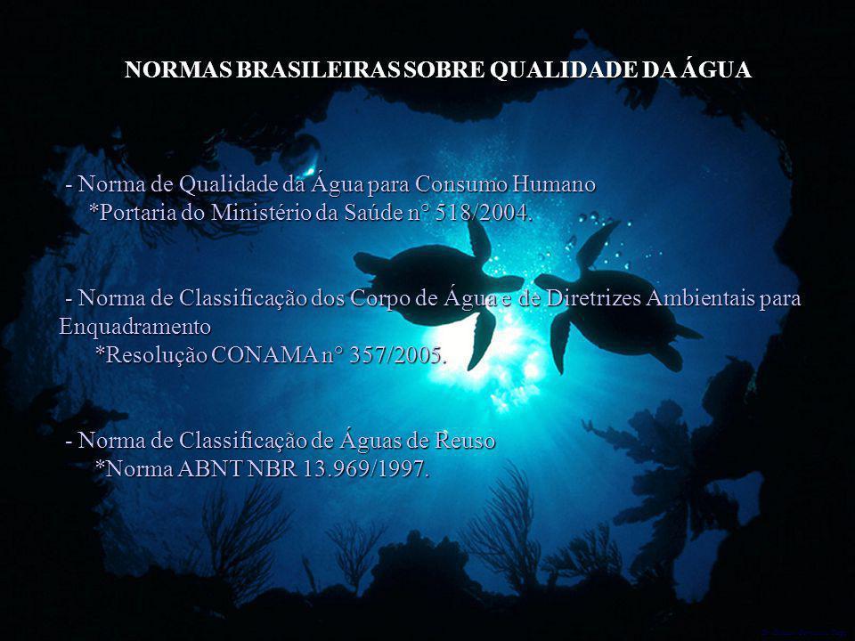 NORMAS BRASILEIRAS SOBRE QUALIDADE DA ÁGUA