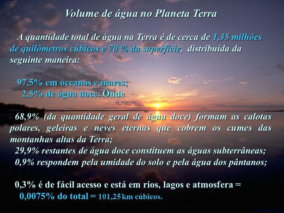 Volume de água no Planeta Terra