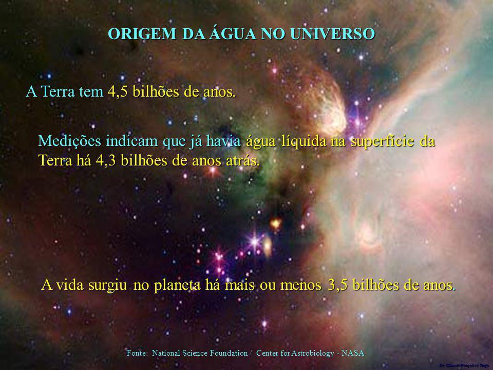 ORIGEM DA ÁGUA NO UNIVERSO