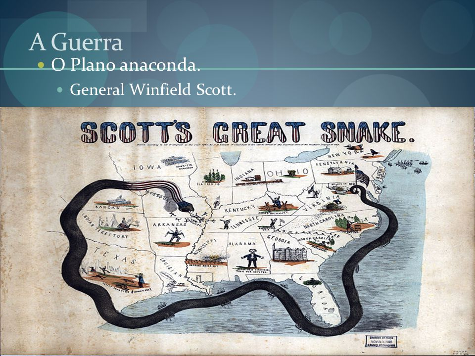 A Guerra O Plano anaconda. General Winfield Scott.
