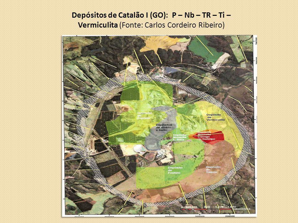 Depósitos de Catalão I (GO): P – Nb – TR – Ti – Vermiculita (Fonte: Carlos Cordeiro Ribeiro)
