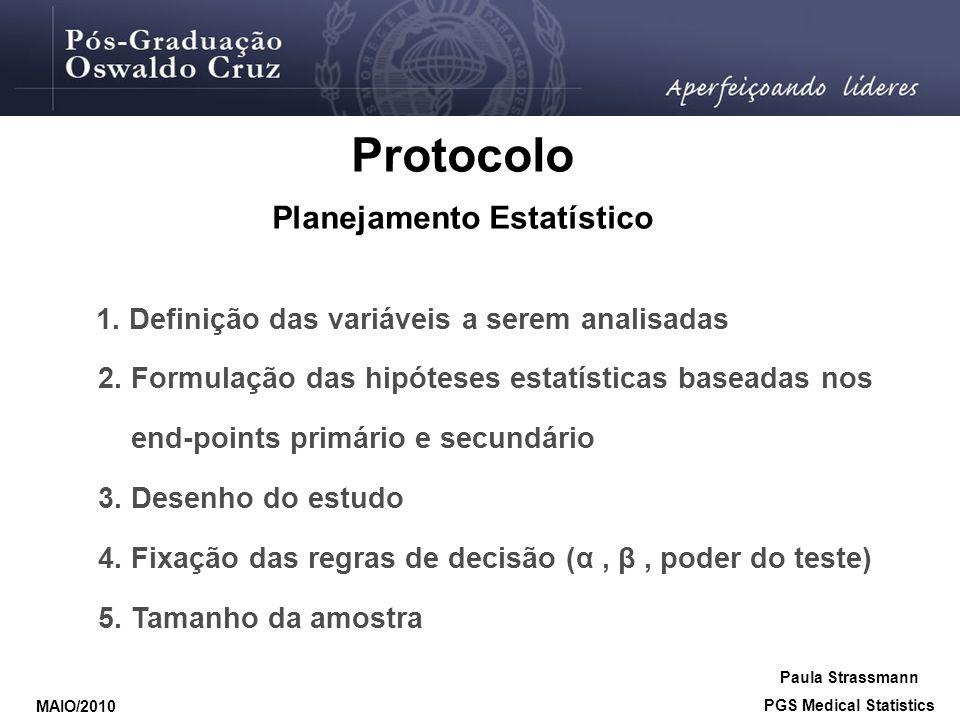 Planejamento Estatístico PGS Medical Statistics