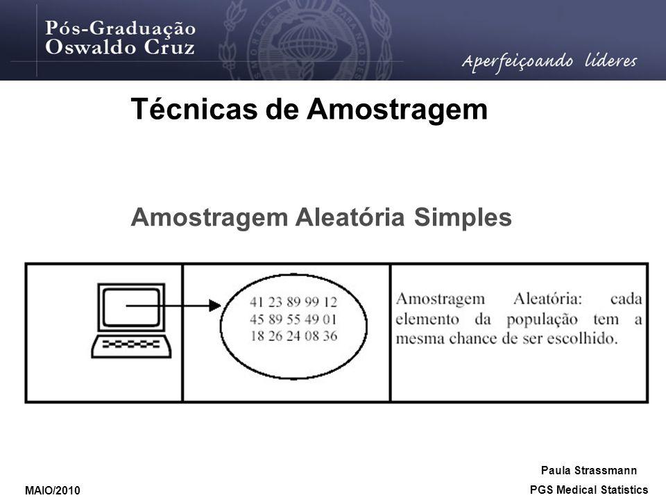 Técnicas de Amostragem PGS Medical Statistics
