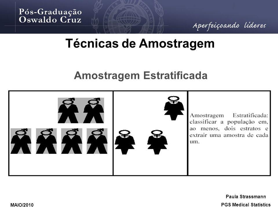 Técnicas de Amostragem Amostragem Estratificada PGS Medical Statistics