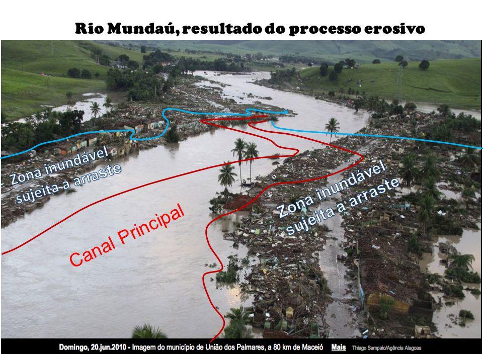 Rio Mundaú, resultado do processo erosivo