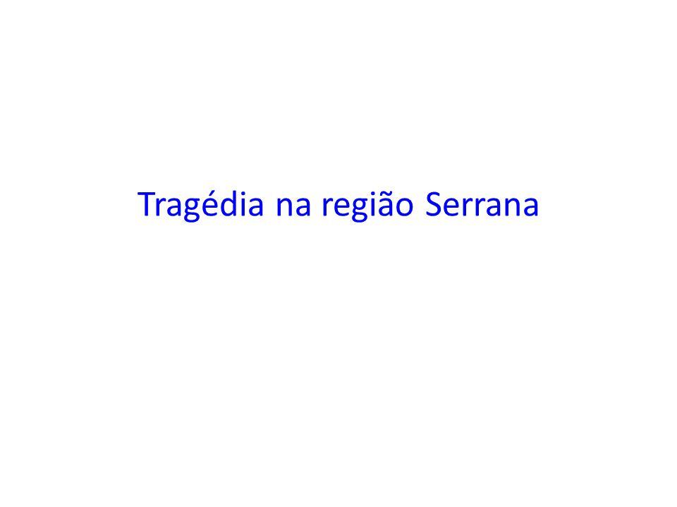 Tragédia na região Serrana