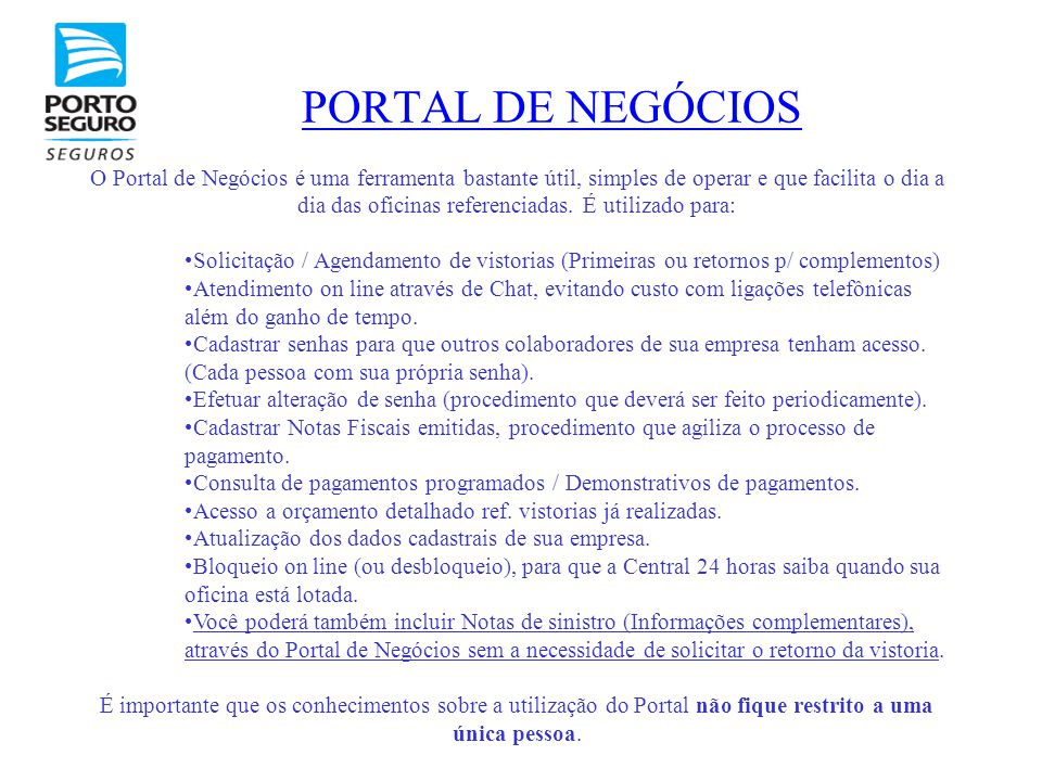 PORTAL DE NEGÓCIOS