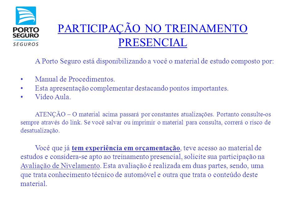 PARTICIPAÇÃO NO TREINAMENTO PRESENCIAL