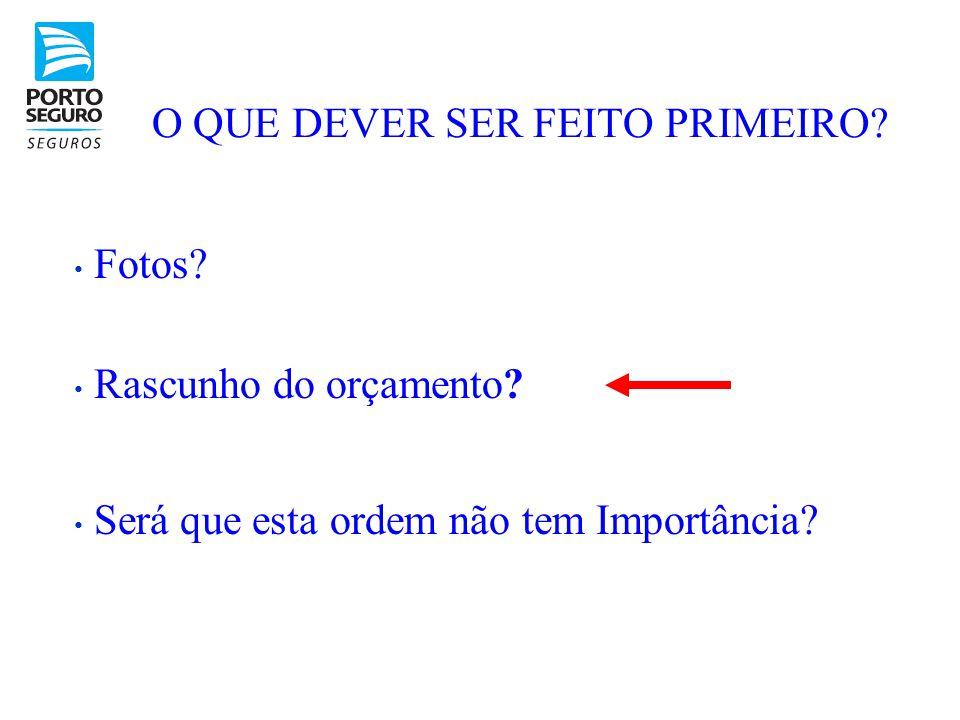 O QUE DEVER SER FEITO PRIMEIRO