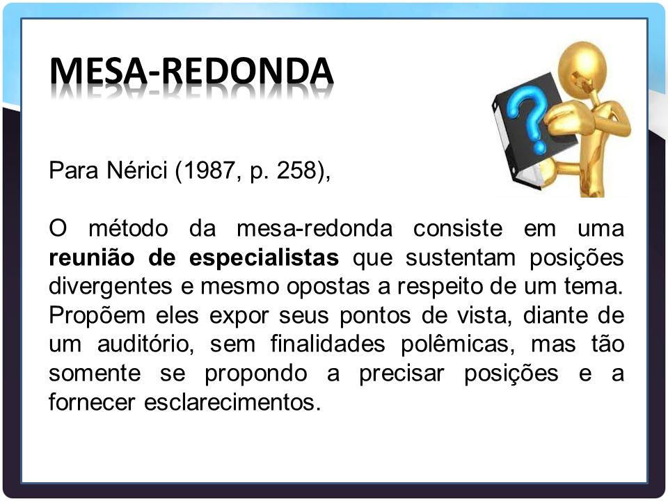 MESA-REDONDA Para Nérici (1987, p. 258),