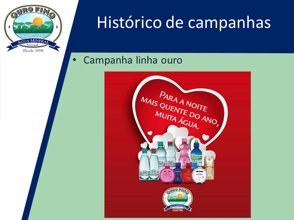 Histórico de campanhas